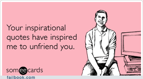 ecard inspirational unfriend unfriended