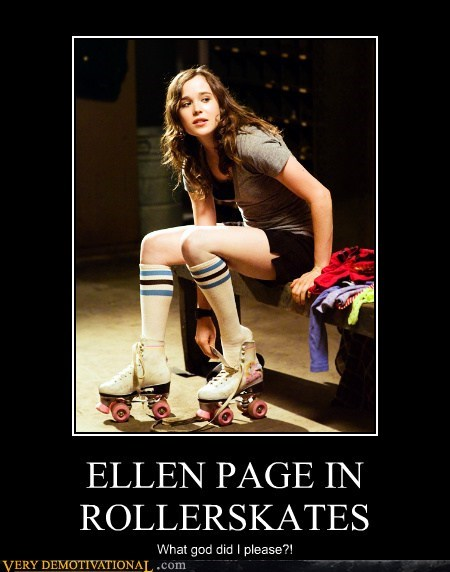 cute,ellen page,Pure Awesome,roller skates,Sexy Ladies