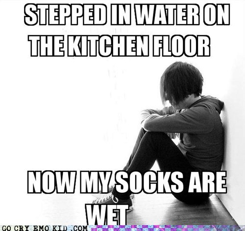 emolulz,First World Problems,kitchen,socks,wet floor