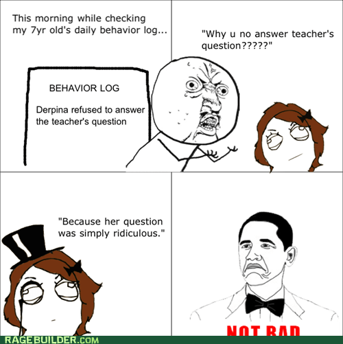 no bad Rage Comics truancy story Y U NO