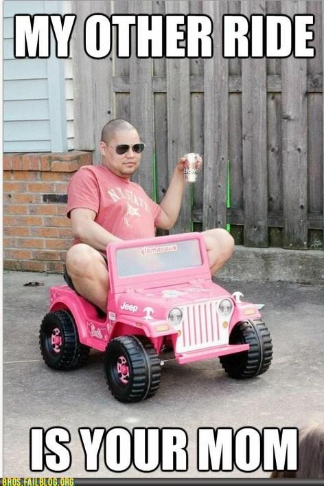 Barbie jeep your mom - 6153400320