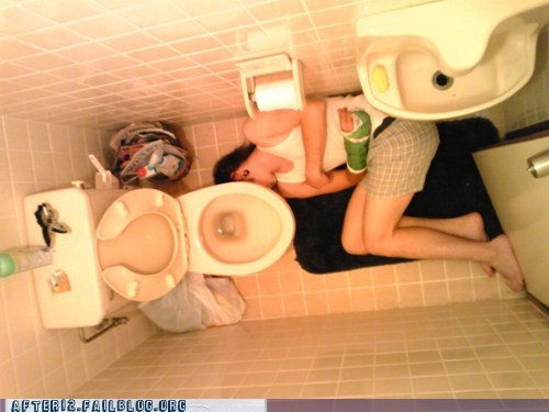 bathroom,bathroom floor,blackout,passed out,tilepedic