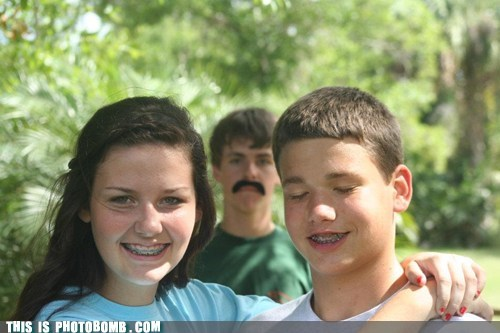 braces,fake mustache,Good Times,mustache