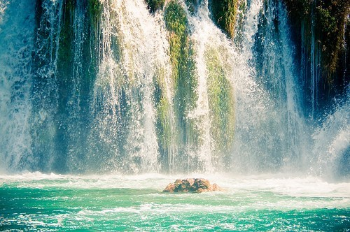 Croatia national park waterfall