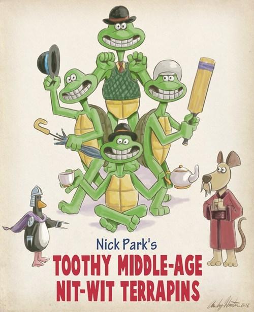 cute Fan Art TMNT toothy middle-age nit-wit terrapins - 6153643008
