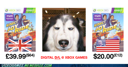 brit vs US digital downloads kinect joyride makes sense microsoft seems legit the feels