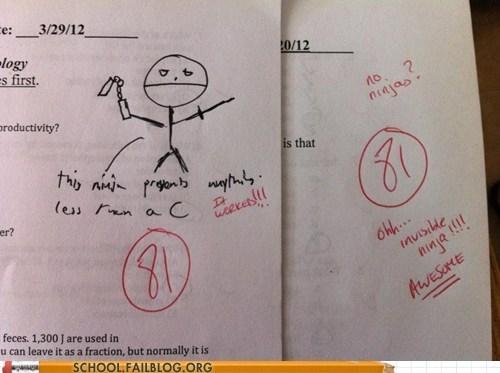ninja test humor - 6153957120
