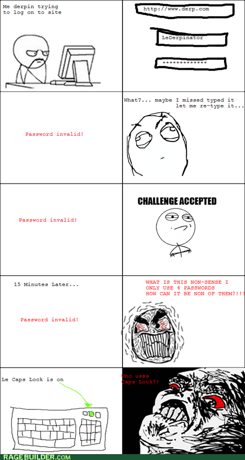 Challenge Accepted computers password Rage Comics - 6153999360
