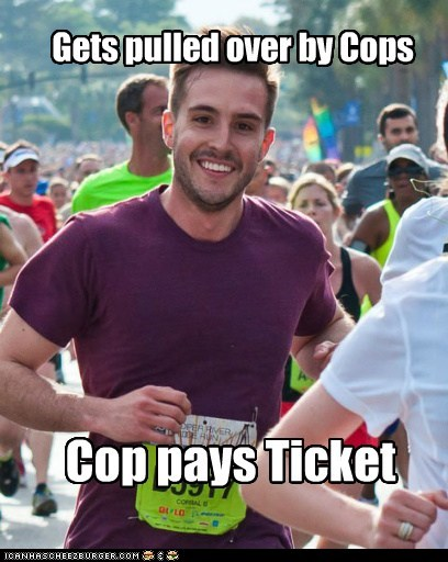 cops Memes photogenic guy pulled over ticket - 6154030848