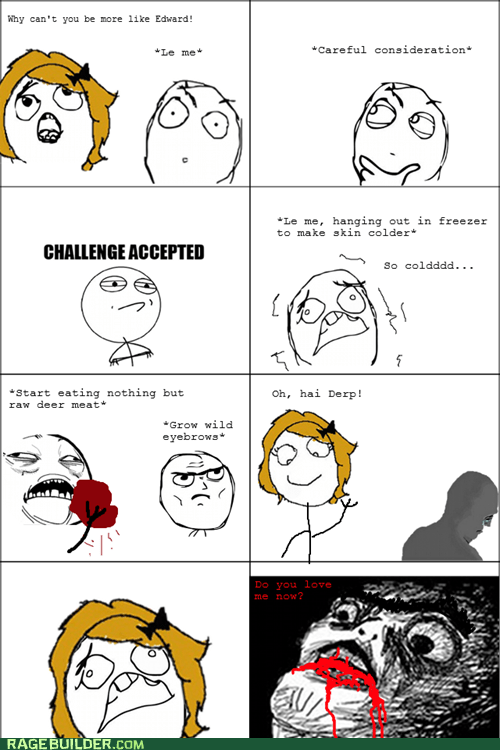 Blood,edward,gross,Rage Comics,raw meat,relationships,twilight