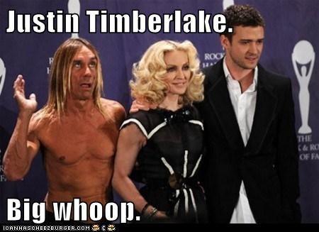 actor celeb funny iggy pop Justin Timberlake Madonna - 6154218752