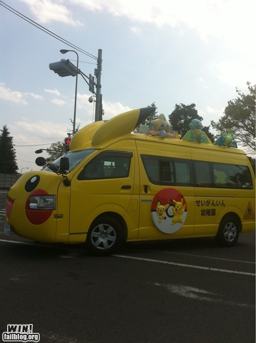 nerdgasm,oh Japan,Pokémon,school bus