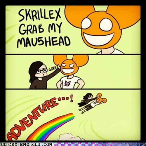 adventure,best of week,Deadmau5,dubstep,grab my x,Music,skrillex,weird kid