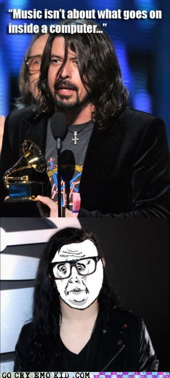 best of week computer Dave Grohl grammy awards Music skrillex weird kid