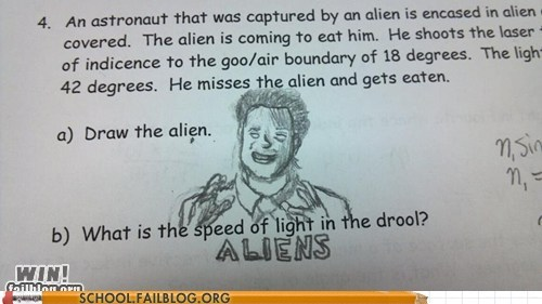 Aliens,comic sans,test humor