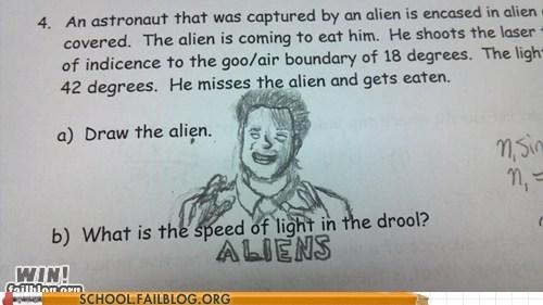 Aliens comic sans test humor - 6154394880