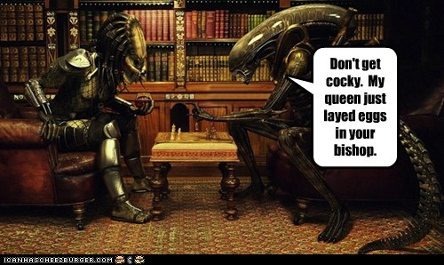 alien vs predator,Aliens,android,bishop,chess,eggs,Predator,queen