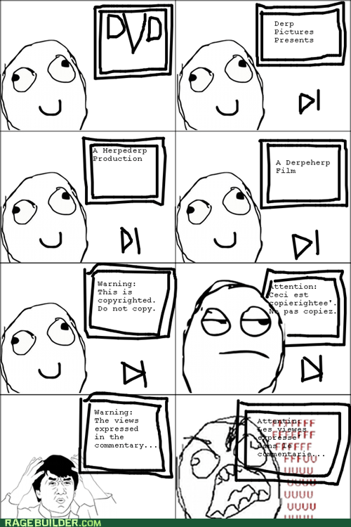 attention all DVD herpederp production Movie Rage Comics - 6154433024