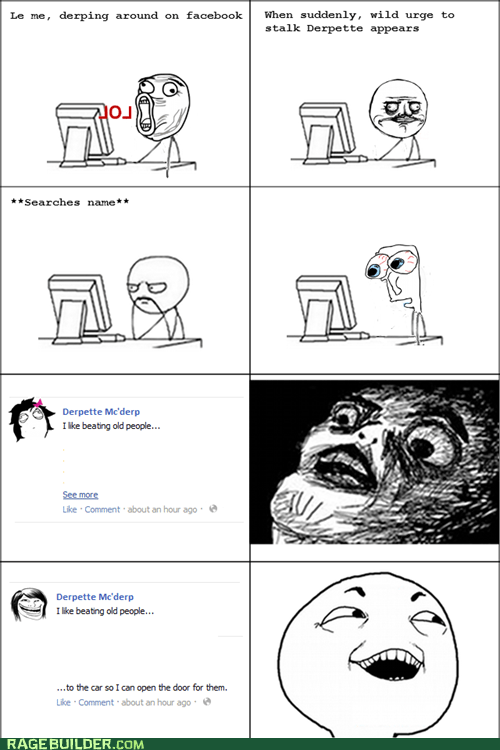 facebook I see what you did there me gusta Rage Comics raisin face stalking - 6154562048