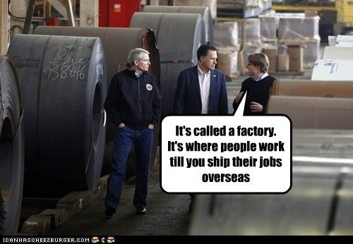 factories,jobs,Mitt Romney,political pictures,Republicans