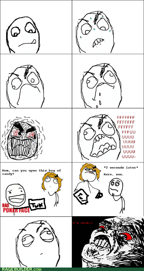 bag candy mom opening Rage Comics raisin rage