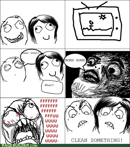 all the things,kids,messy,mom,Rage Comics