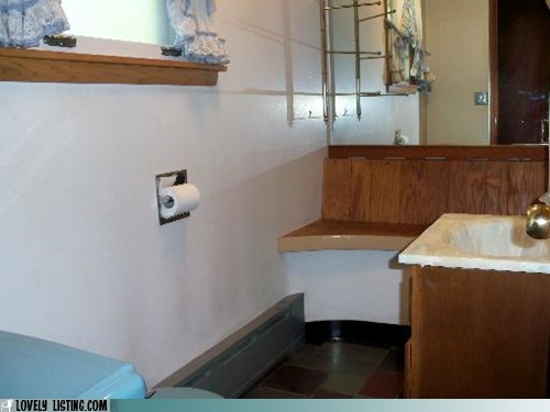 bathroom,bench,weird