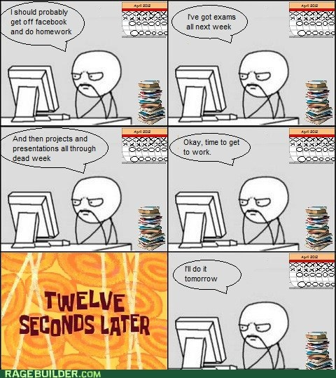 almost over procrastinate Rage Comics school semester - 6155215872