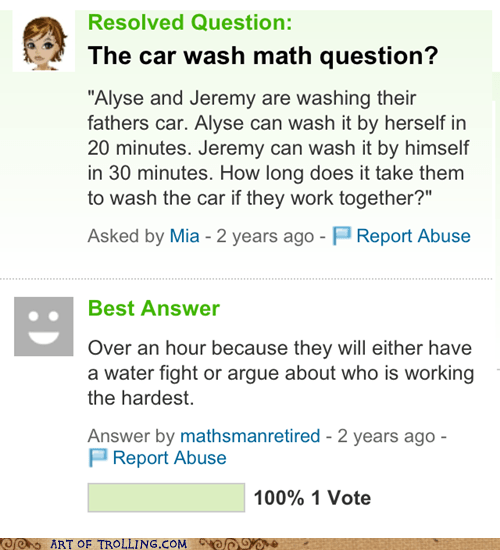 carwash math siblings Yahoo Answer Fails - 6155404544