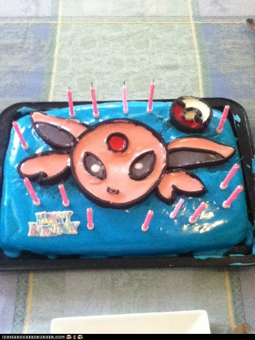 birthday cake candles espeon Pokémon