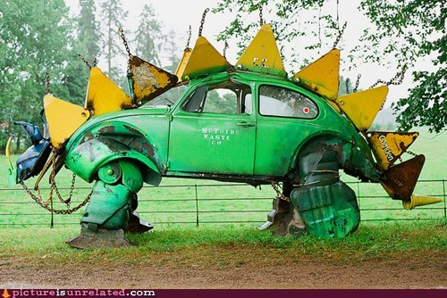 beatle car dinosaur volkswagen wtf - 6156116480