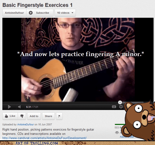 A minor chords guitar pedobear youtube - 6156251392