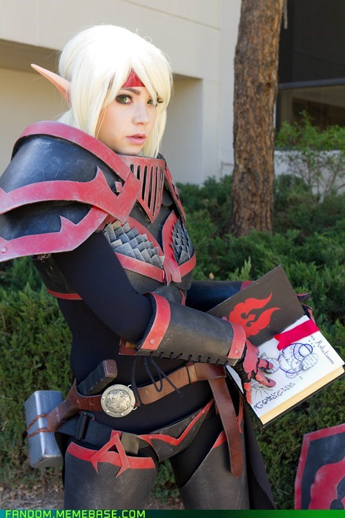 blood elf cosplay Silvermoon City Guardian video games world of warcraft - 6156711936