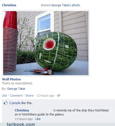 Death Star hitchhikers-guide star wars watermelon