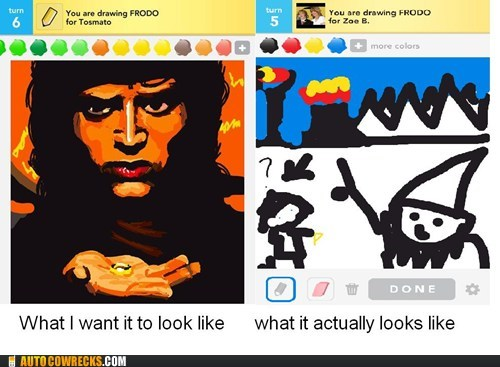 draw something,frodo,Lord of the Rings,what it actually looks li