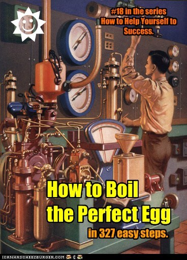 How to Boil the Perfect Egg in 327 easy steps. R J #18 in the series How to Help Yourself to Success.