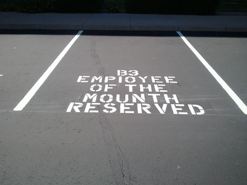 boss employee of the month parking spot