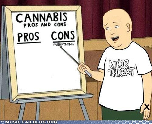 drugs,King of the hill,minor threat,straight edge,weed