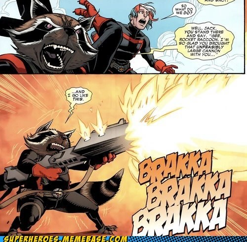 cannon rocket raccoon Straight off the Page wtf - 6157205504