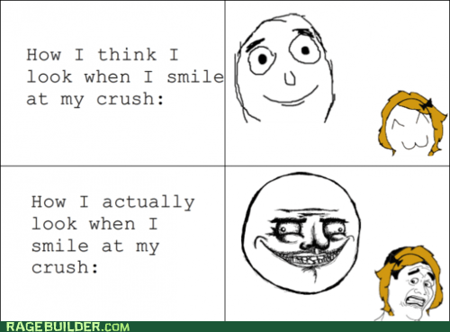 crush me gusta Rage Comics relationships smile - 6157357824