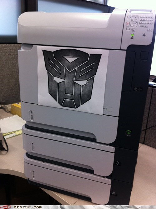 hewlett packard hp optimus prime printer