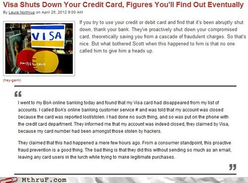 bank bank of america credit cards debit card foreclosure Scumbag Steve visa