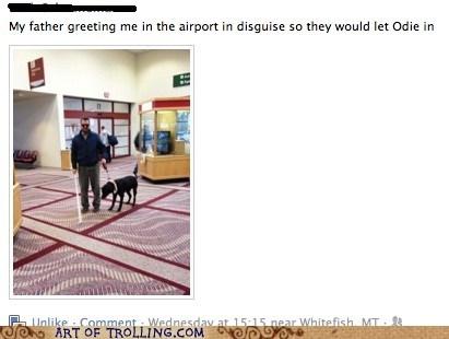airport blind costume dad facebook - 6157398272