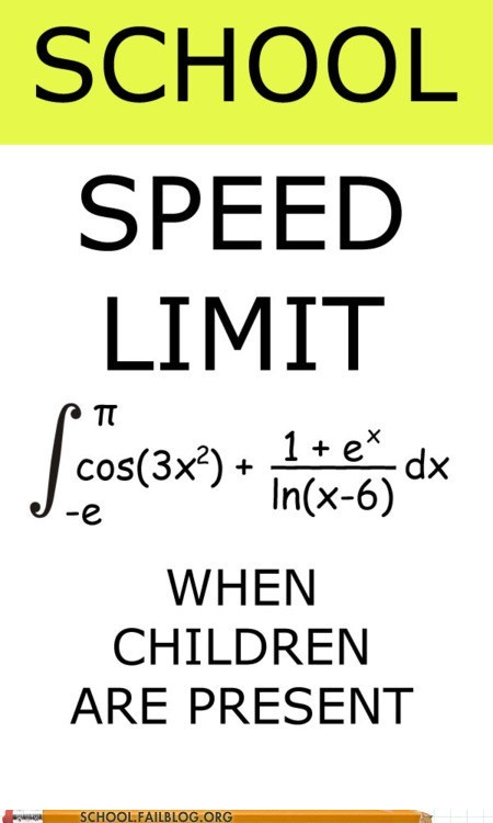 driving,math humor,school zone,speed limit