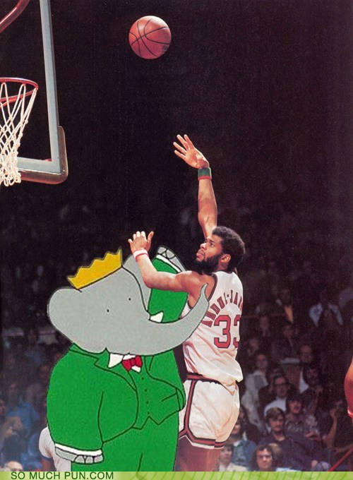 babar,basketball,book,kareem abdul jafar,literalism,shoop,similar sounding