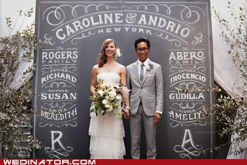 chalk art chalkboard funny wedding photos wedding announcements - 6157439488
