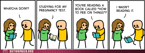 cyanide and happiness pee on things pregnancy test