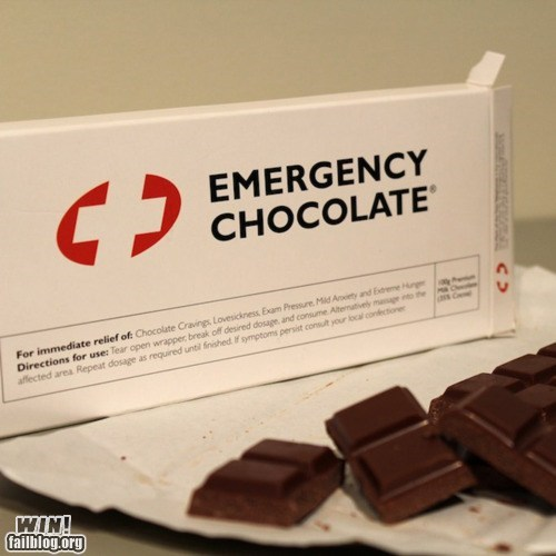chocolate,emergency,food,for the ladies