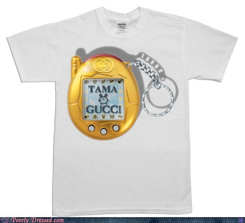 design gucci pun shirt tamagachi virtual pet