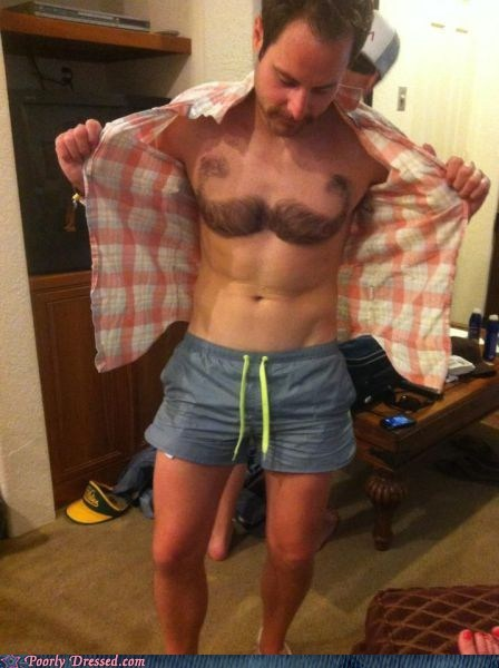 awesome chest hair manscaping mustache win - 6157688320